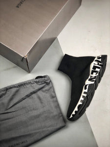 Speed Sock Mid-Top Sneakers - Black Signature