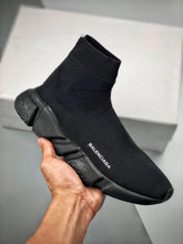 Load image into Gallery viewer, Speed Sock Mid-Top Sneakers - All Black