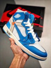 Load image into Gallery viewer, Retro 1 High - White Blue