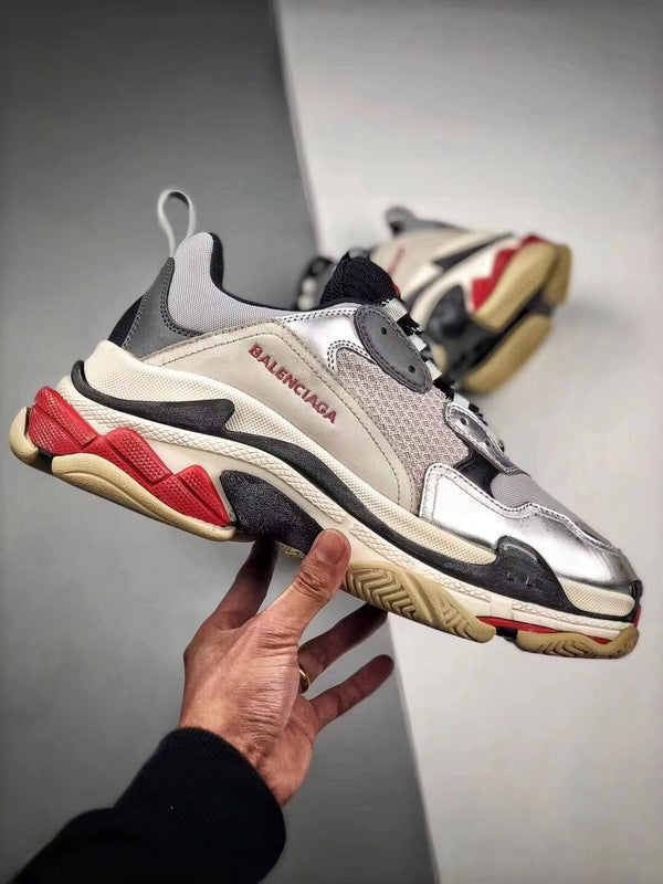 Triple S - Silver Black Red