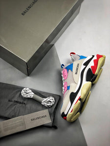 Triple S - White Pink Blue Red