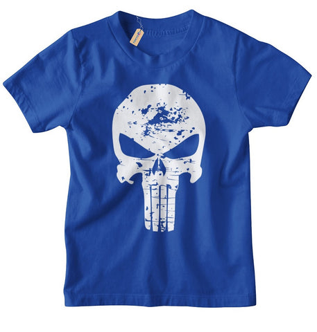 T-Shirt Kinder Punisher Destroyed Kult Vollstrecker Skull Totenkopf
