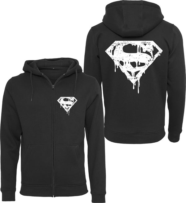 Herren Kapuzen Sweatjacke Superman's Vintage Death Bloody Film Kult 80er Comic