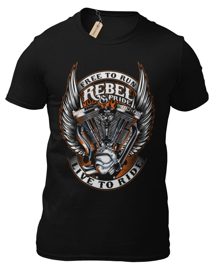 T-Shirt Rebel Motorcycle 1% Classic Motorbike Custom Motors Chopper