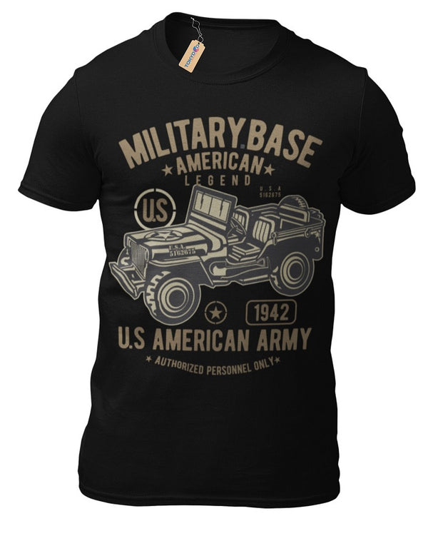 T-Shirt Willys Jeep Army Offroad US Army Oldschool Car Vintage