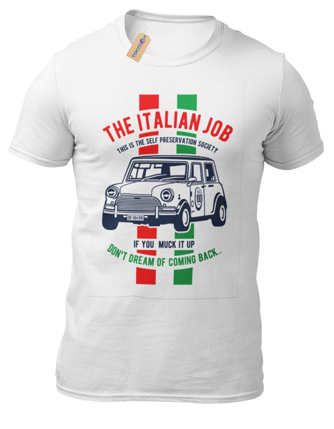 T-Shirt The Italian Job Michael Caine 1969 Film Inspiriertes Motiv Mini