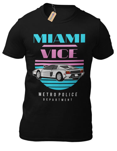 T-Shirt Miami Vice Kult Tubbs Crocket 80er Serie Kult FUN TV Serie
