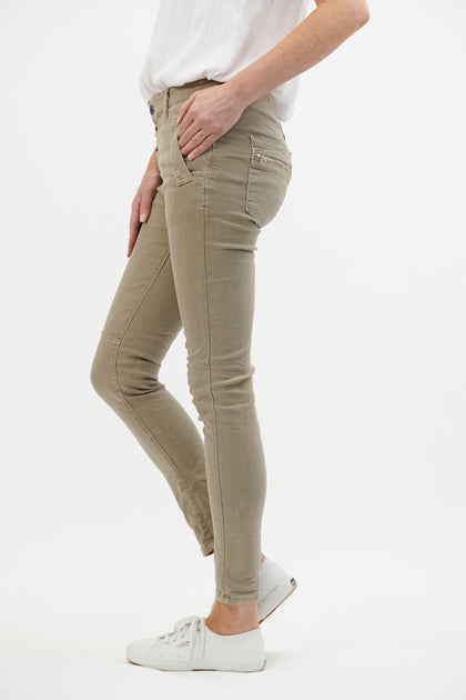Button Jean - Beige