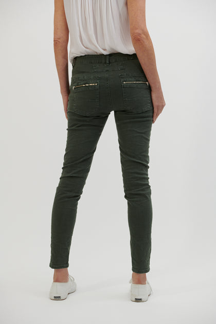 Button Jean -Military