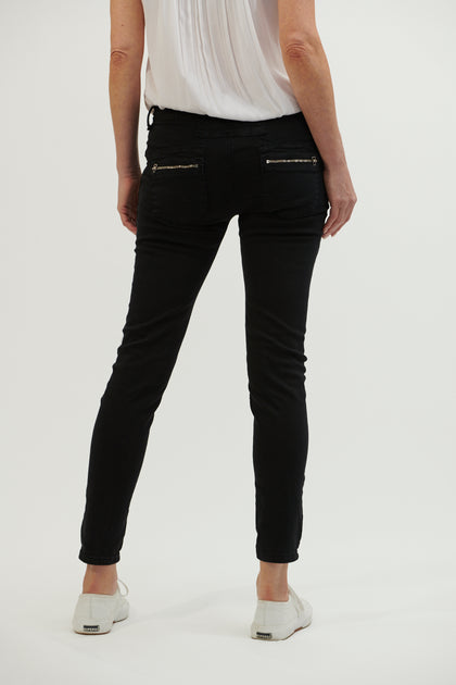 Button Jean - Black