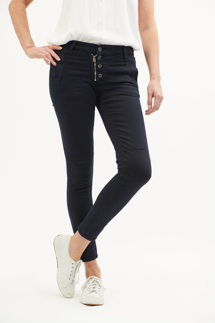 Button Jean - French Navy