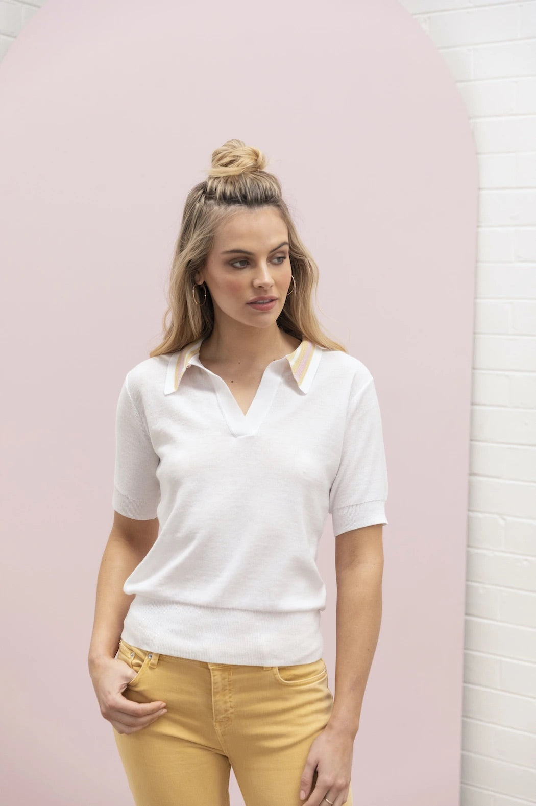 Lurex Polo - Ivory