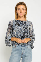 Load image into Gallery viewer, Storm Tie Dye Bubble Blouse