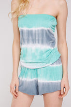 Load image into Gallery viewer, Mint & Grey Tie Dye Romper