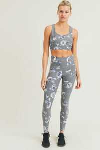 Grey Roses Leggings