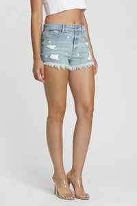 Jean Shorts - Lulu High Rise Solar Wind Star