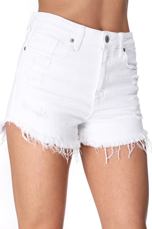 Jean Shorts - Lulu High Rise White Sand Dune