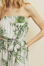 Load image into Gallery viewer, Tropical striped strapless jumpsuit