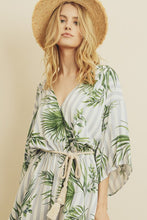 Load image into Gallery viewer, Palm Tree Striped Romper