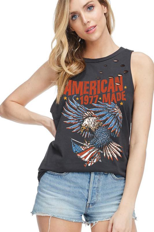 American Made Distressed Tank