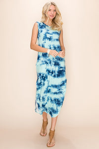 Mint Tie Dye Tee Maxi Dress