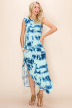 Load image into Gallery viewer, Mint Tie Dye Tee Maxi Dress