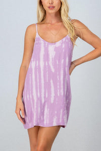 Lilac Tie Dye Mini Dress