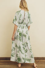 Load image into Gallery viewer, Tropical Front Slit Maxi Dress