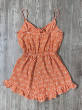 Load image into Gallery viewer, Coral Floral print Romper