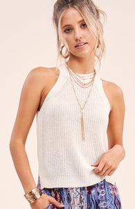 Knit Halter Tank - 2 colors