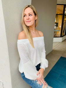 Ivory Off the Shoulder Sweater