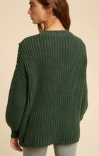 Load image into Gallery viewer, Hunter Green Pom Knitted Sweater