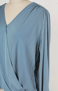 Surplice Long Sleeved Blouse (2 colors)