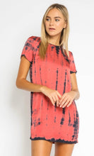 Load image into Gallery viewer, Salmon Tie Shift Dress