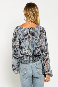 Storm Tie Dye Bubble Blouse