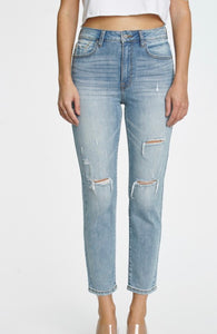 Tobi High Rise Relaxed Crop Jeans - Solstice