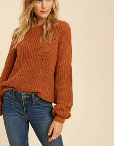 Camel Knitted Sweater