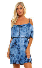Load image into Gallery viewer, Navy Tie Dye Summer Dress