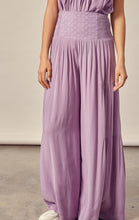 Load image into Gallery viewer, Lavender Embroidery Waist Tiered Pants