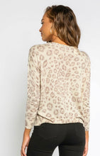 Load image into Gallery viewer, Lt Grey Leopard Distressed Sweater