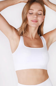 Ribbed Square Neck Crop Top