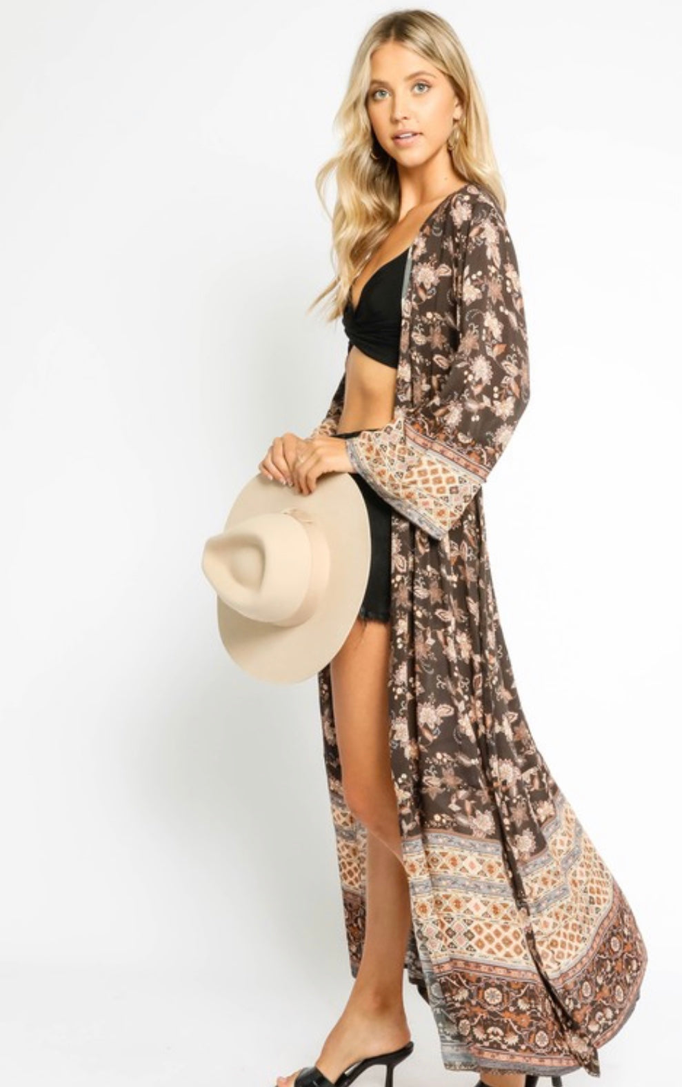 Brown Tapestry Duster