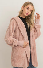 Load image into Gallery viewer, Mauve plush hooded jacket