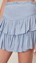 Load image into Gallery viewer, Misty denim ruffle skirt