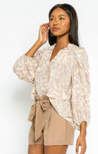 Load image into Gallery viewer, Paisley Ruffle Top