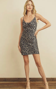 Panther Cowl Neck Slip Dress