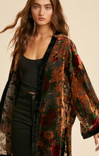 Load image into Gallery viewer, Burnout Velvet Kimono