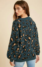 Load image into Gallery viewer, Teal Leopard print Sweater
