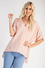 Load image into Gallery viewer, V-Neck High Low Top - Blush