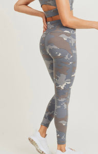 Blue Camo High Waist Leggings